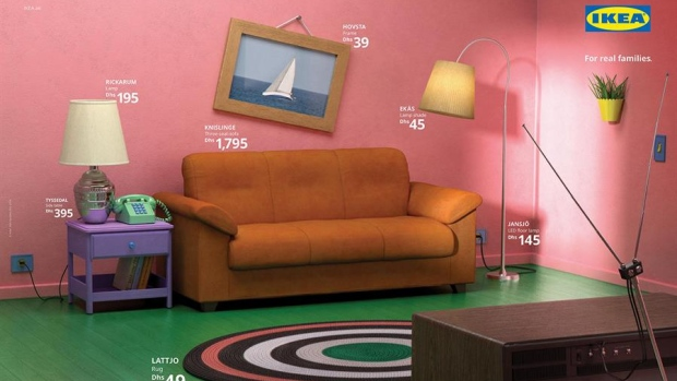 Ikea Recreates Living Rooms From The Simpsons Friends