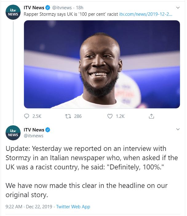 ITV News Stormzy