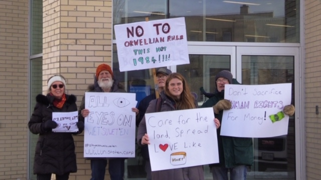 Goderich bank protest