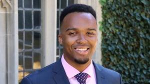 Nicholas Johnson, valedictorian of Princeton's Class of 2020. (Lisa Festa, Center for Career Development/Princeton University)