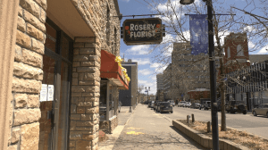 Locally-owned Rosary Florist on Larch Street in downtown Sudbury. May 11/20 (Ian Campbell/CTV Northern Ontario)