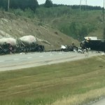 2 dead, 3 hospitalized in crash on Trans-Canada Highway west of Calgary 💥😭😭💥