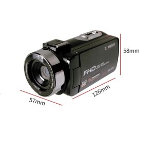Digital Video Camcorder Camera 24MP 3.0″ Touchscreen Full HD rotating Screen for churches events commercial wedding adventures travel