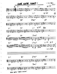 one note samba1