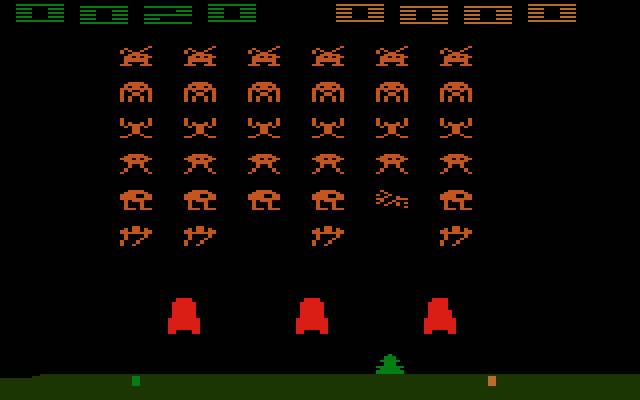 space invaders atari pantallazo