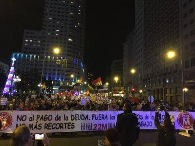 Manifestación de las Marchas de la Dignidad celebrada en Madrid el 3 de diciembre del pasado año.