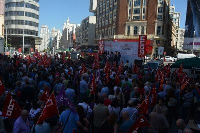 Marcha sindical de Comisiones y UGT