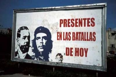 Cartel sobre Antonio Maceo y Ernesto Che Guevara