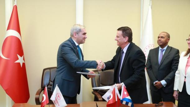 Firman Turquía y Cuba acuerdo de cooperación