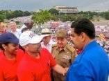 Maduro y Raúl con los Cinco. Foto: Miraflores
