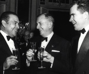 Fulgencio Batista con Richard Nixon, en 1954.