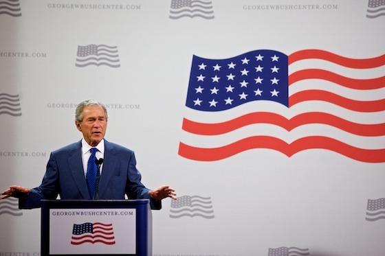 El ex Presidente interviene en la Conferencia sobre  ciberdisidencia del Instituto George W. Bush, celebrada en el Southern  Medhodist de la Universidad Universidad de Dallas, en Texas, el lunes 19  de abril de 2010.