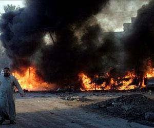 Iraq. Coche bomba. Foto de archivo