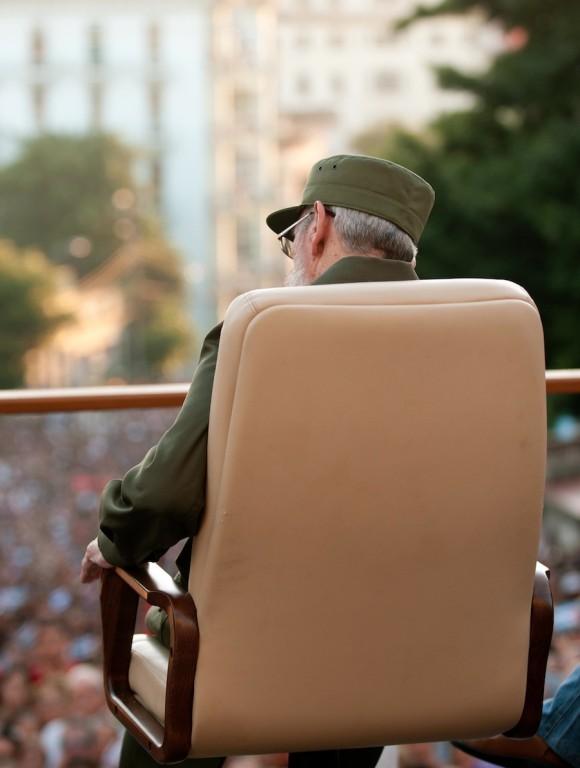 Fidel Castro en la Universidad. Foto: Roberto Chile