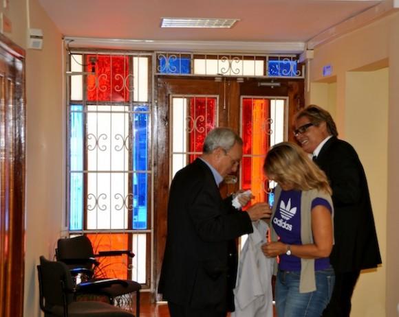Eusebio Leal, Petí y Amaury Pérez.
