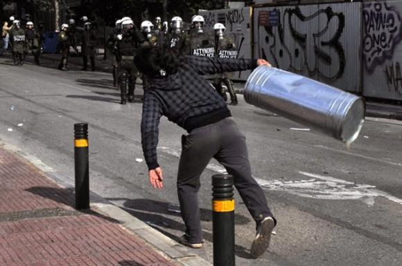 Protestas en Grecia. Foto: AFP