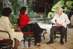 Carter durante la entrevista.