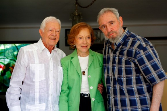 Carter, su esposa Rosalynn y Fidel en La Habana, marzo de 2011. Foto: Alex Castro/Archivo de Cubadebate