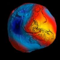 Muestra satélite Goce nueva imagen de la Tierra; no es redonda