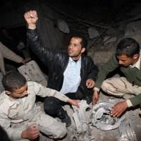 Fotos de la residencia de Gadafi en Trípoli después de ataque con misil