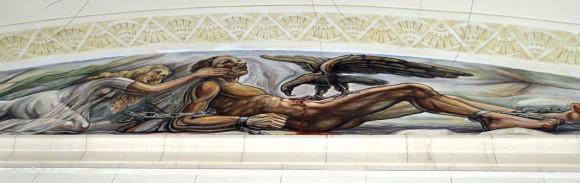 El mural Prometeo encadenado ve la luz. Foto Kaloian