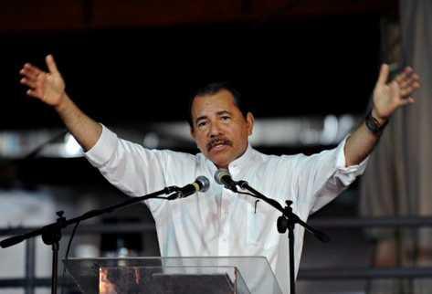 El presidente de Nicaragua, Daniel Ortega, en Managua. (Foto: AFP)