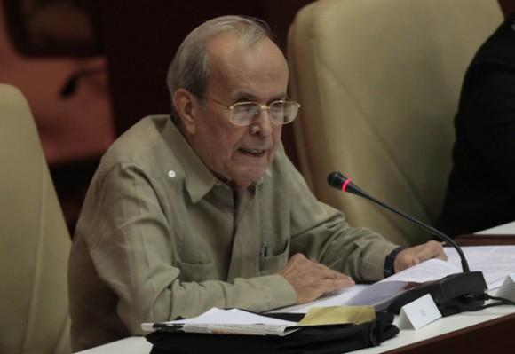 Ricardo Alarcón, Presidente de la Asamblea Nacional del Poder Popular, de Cuba, el 1 de agosto de 2011. Foto: Ismael Francisco