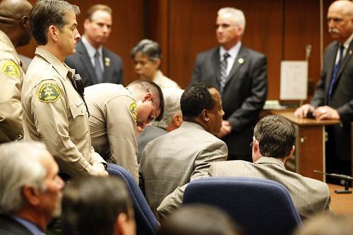 Conrad Murray en el Tribunal.