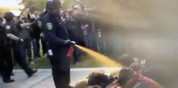 gas pimienta contra estudiantes universidad california