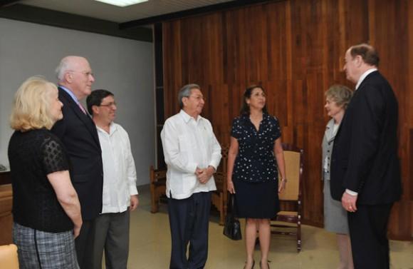 Raúl Castro recibió a Patrick Leahy y Richard Shelby. Foto: Geovani Fernández