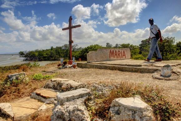 El Cayo de la Virgen, ubicado en Playa Morales,  en el interior de la Bahía de Nipe, es el sitio por donde entró a Cuba la imagen de la Virgen de la Caridad, ubicado en el municipio de Mayarí, provincia de Holguín, el 20 de marzo de 2012. Foto: Juan Pablo Carreras/ Cubadebate