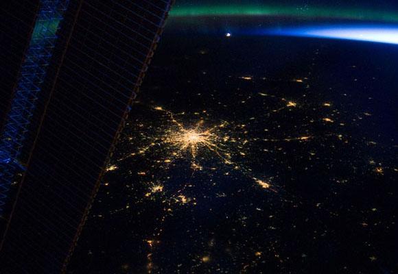 Moscú, la capital rusa, vista desde la Estación Espacial Internacional. Imagen de la NASA