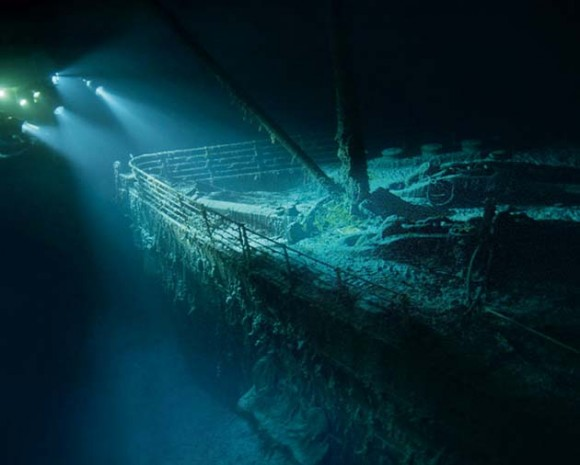 El Titanic en el fondo del mar. Foto: National Geographic