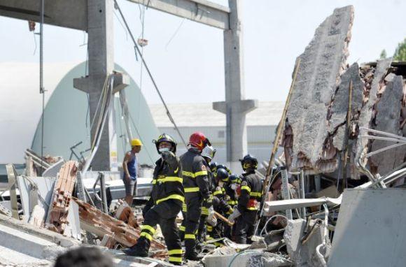 Destrozos provocados por el terremoto.