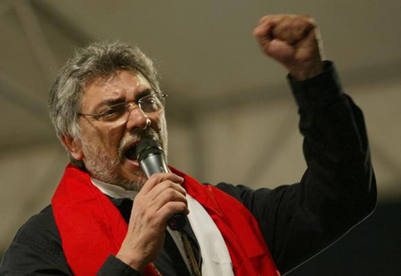 Palabras de Fernando Lugo en acto de Presidentes sin Fronteras, celebrado en la sede del consejo nacional de deportes, Asuncion, Paraguay.Foto: Ismael Francisco/Cubadebate.