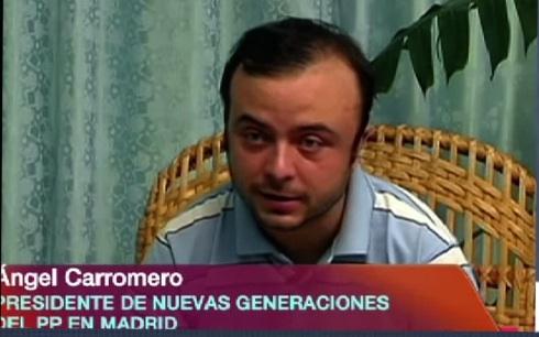 Angel Carromero. Foto: TV