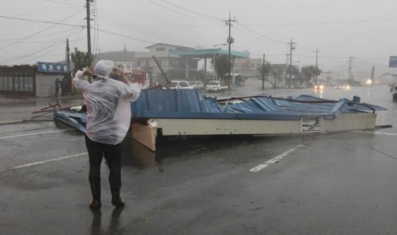 Corea del Sur: Tifón. Foto: Reuters