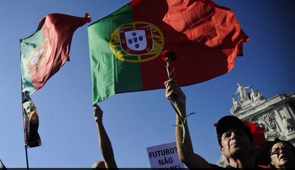 Manifestación en Lisboa. 29 de septiembre de 2012.