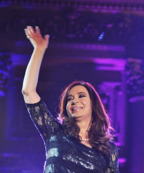 Presidenta Cristina Fernández encabezó los festejos. FOTO: Kaloian Santos Cabrera