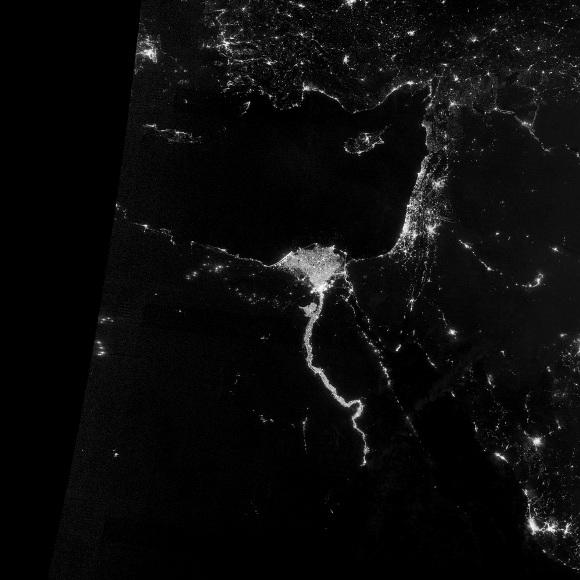 Imágenes nocturnas de la Tierra tomadas desde el espacio. FOTO: NASA