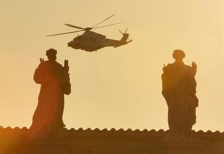 Benedicto XVI vivió su último día al frente de la Santa Sede. Foto AP