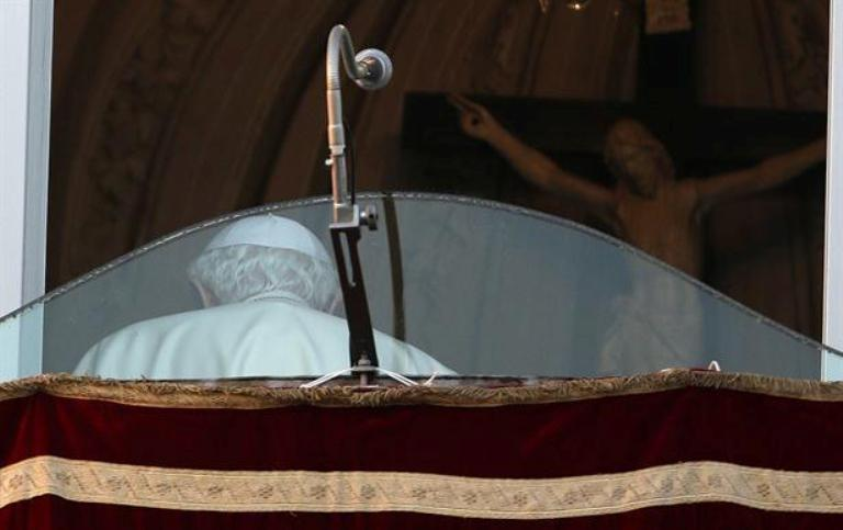 La última foto pública de Benedicto XVI como Papa. Foto AP