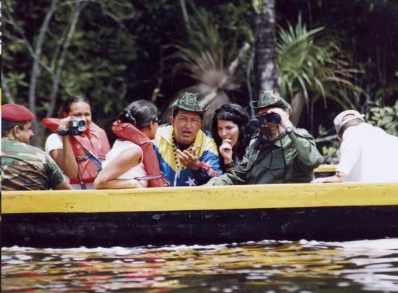 Fidel y Chávez en Venezuela el 12 de agosto de 2001