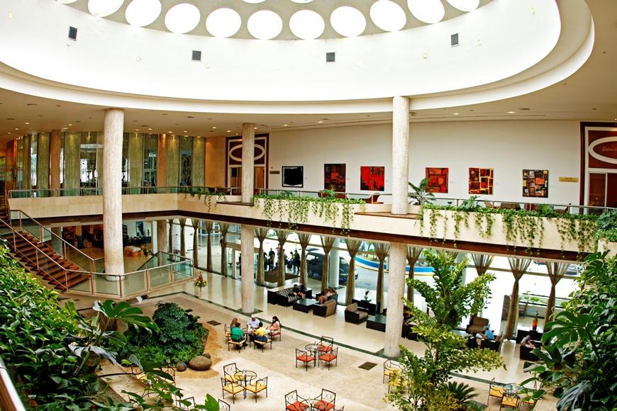 Vista del lobby del Hotel Habana Libre. FOTO: Cortesía Melía Cuba.