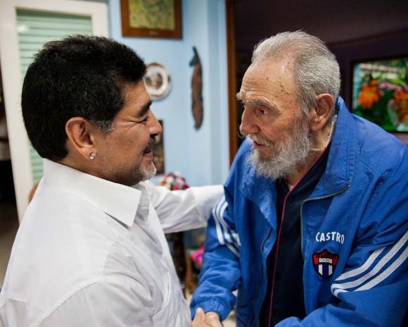 Fidel Castro y Maradona