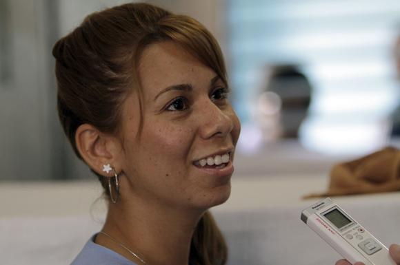 Carolina Galvez de Colombia detenida por Tráfico de Drogas en Carcel de mujeres de la Habana. Foto: Ismael Francisco/Cubadebate.