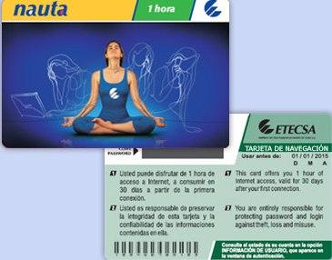 Tarjeta Nauta para navegación por internet