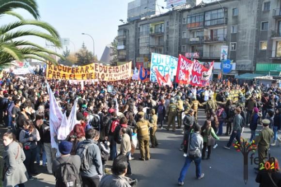 La convocatoria fue hecha, semanas atrás, por la Confederación de Estudiantes de Chile