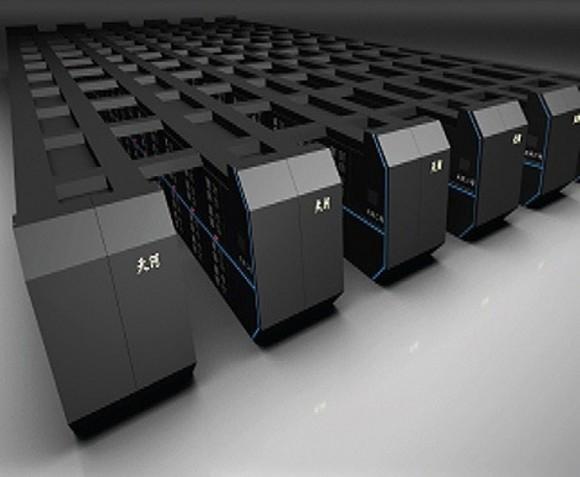 Representación artística del aspecto final del sistema Tianhe-2./ netlib.org