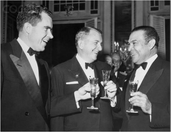 Batista y Nixon brindan. 1955. Foto: Archivo